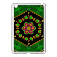 Magic Of Life A Orchid Mandala So Bright Apple Ipad Mini Case (white) by pepitasart