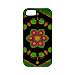 Magic Of Life A Orchid Mandala So Bright Apple Iphone 5 Classic Hardshell Case (pc+silicone) by pepitasart
