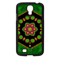 Magic Of Life A Orchid Mandala So Bright Samsung Galaxy S4 I9500/ I9505 Case (black) by pepitasart