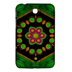 Magic Of Life A Orchid Mandala So Bright Samsung Galaxy Tab 3 (7 ) P3200 Hardshell Case  by pepitasart