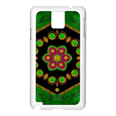 Magic Of Life A Orchid Mandala So Bright Samsung Galaxy Note 3 N9005 Case (white) by pepitasart