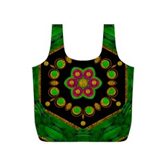Magic Of Life A Orchid Mandala So Bright Full Print Recycle Bags (s)  by pepitasart