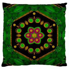 Magic Of Life A Orchid Mandala So Bright Standard Flano Cushion Case (one Side) by pepitasart