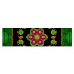 Magic Of Life A Orchid Mandala So Bright Satin Scarf (oblong) by pepitasart