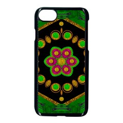 Magic Of Life A Orchid Mandala So Bright Apple Iphone 7 Seamless Case (black) by pepitasart