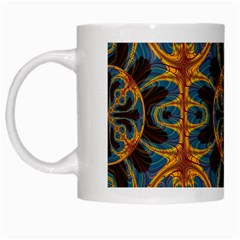 Tapestry Pattern White Mugs by linceazul