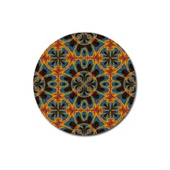 Tapestry Pattern Magnet 3  (round) by linceazul