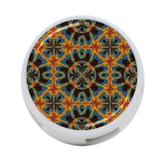 Tapestry Pattern 4 Port Usb Hub (two Sides)  by linceazul