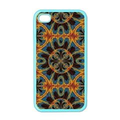 Tapestry Pattern Apple Iphone 4 Case (color) by linceazul