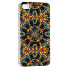 Tapestry Pattern Apple Iphone 4/4s Seamless Case (white) by linceazul