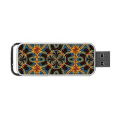 Tapestry Pattern Portable Usb Flash (two Sides) by linceazul