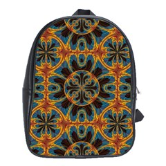 Tapestry Pattern School Bag (xl) by linceazul