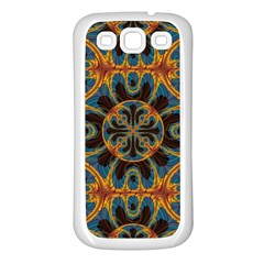 Tapestry Pattern Samsung Galaxy S3 Back Case (white) by linceazul