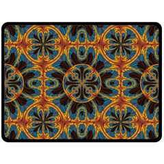 Tapestry Pattern Double Sided Fleece Blanket (large)  by linceazul