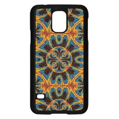 Tapestry Pattern Samsung Galaxy S5 Case (black) by linceazul