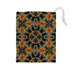 Tapestry Pattern Drawstring Pouches (large)  by linceazul