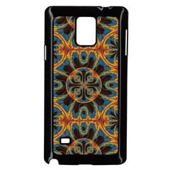 Tapestry Pattern Samsung Galaxy Note 4 Case (black) by linceazul