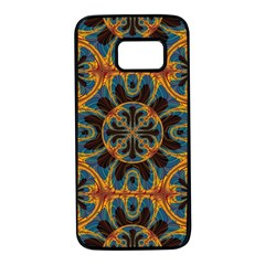 Tapestry Pattern Samsung Galaxy S7 Black Seamless Case by linceazul