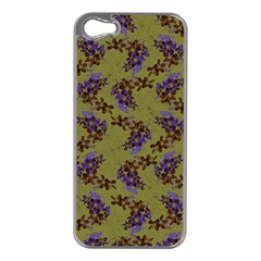 Green Purple And Orange Pear Blossoms  Apple Iphone 5 Case (silver) by ssmccurdydesigns