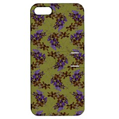 Green Purple And Orange Pear Blossoms  Apple Iphone 5 Hardshell Case With Stand by ssmccurdydesigns