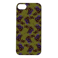 Green Purple And Orange Pear Blossoms  Apple Iphone 5s/ Se Hardshell Case by ssmccurdydesigns
