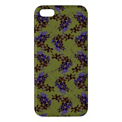 Green Purple And Orange Pear Blossoms  Iphone 5s/ Se Premium Hardshell Case by ssmccurdydesigns