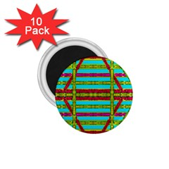 Gift Wrappers For Body And Soul 1 75  Magnets (10 Pack)  by pepitasart