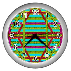 Gift Wrappers For Body And Soul Wall Clocks (silver)  by pepitasart