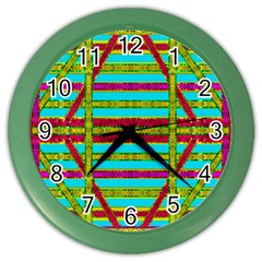 Gift Wrappers For Body And Soul Color Wall Clocks by pepitasart