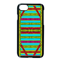 Gift Wrappers For Body And Soul Apple Iphone 7 Seamless Case (black) by pepitasart