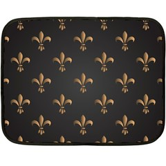 Fleur De Lis Double Sided Fleece Blanket (mini)  by 8fugoso