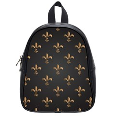 Fleur De Lis School Bag (small) by 8fugoso
