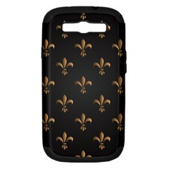 Fleur De Lis Samsung Galaxy S Iii Hardshell Case (pc+silicone) by 8fugoso