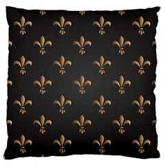 Fleur De Lis Large Flano Cushion Case (two Sides) by 8fugoso