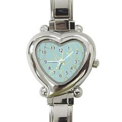 Mint,gold,marble,pattern Heart Italian Charm Watch by 8fugoso