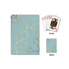 Mint,gold,marble,pattern Playing Cards (mini)  by 8fugoso