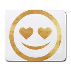 Gold Smiley Face Large Mousepads by 8fugoso