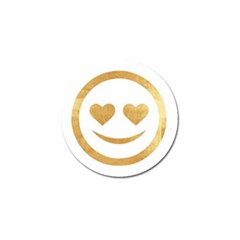 Gold Smiley Face Golf Ball Marker by 8fugoso