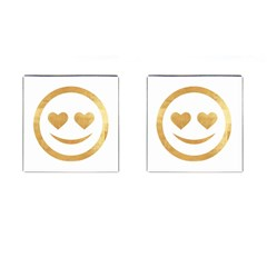 Gold Smiley Face Cufflinks (square) by 8fugoso