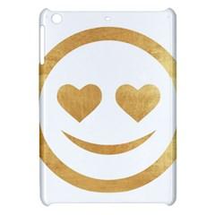 Gold Smiley Face Apple Ipad Mini Hardshell Case by 8fugoso