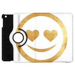 Gold Smiley Face Apple Ipad Mini Flip 360 Case by 8fugoso