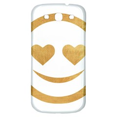 Gold Smiley Face Samsung Galaxy S3 S Iii Classic Hardshell Back Case by 8fugoso
