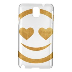 Gold Smiley Face Samsung Galaxy Note 3 N9005 Hardshell Case by 8fugoso
