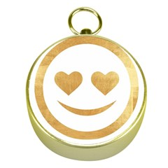 Gold Smiley Face Gold Compasses by 8fugoso