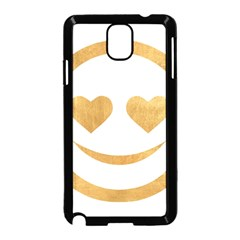 Gold Smiley Face Samsung Galaxy Note 3 Neo Hardshell Case (black) by 8fugoso