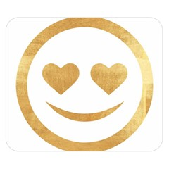 Gold Smiley Face Double Sided Flano Blanket (small)  by 8fugoso