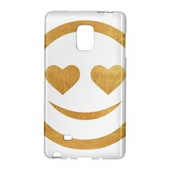 Gold Smiley Face Galaxy Note Edge by 8fugoso