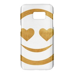 Gold Smiley Face Samsung Galaxy S7 Hardshell Case  by 8fugoso