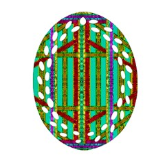 Gift Wrappers For Body And Soul In  A Rainbow Mind Oval Filigree Ornament (two Sides) by pepitasart