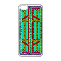 Gift Wrappers For Body And Soul In  A Rainbow Mind Apple Iphone 5c Seamless Case (white) by pepitasart